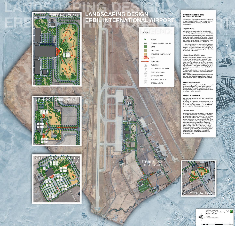 Konzeptentwurf Flughafen Erbil (Irak)